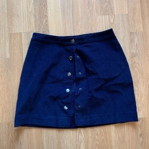 Old Navy Corduroy Indigo Button Skirt